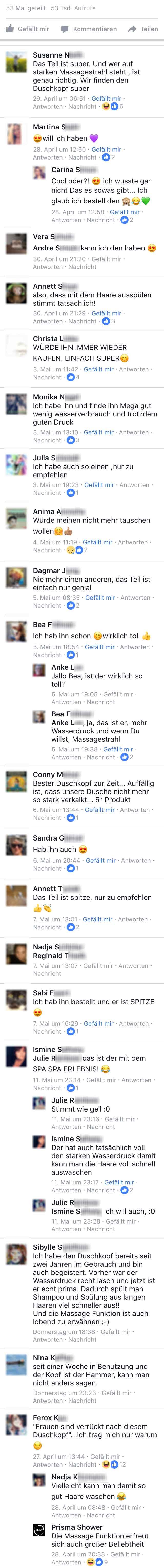 Echte Facebook Kommentare