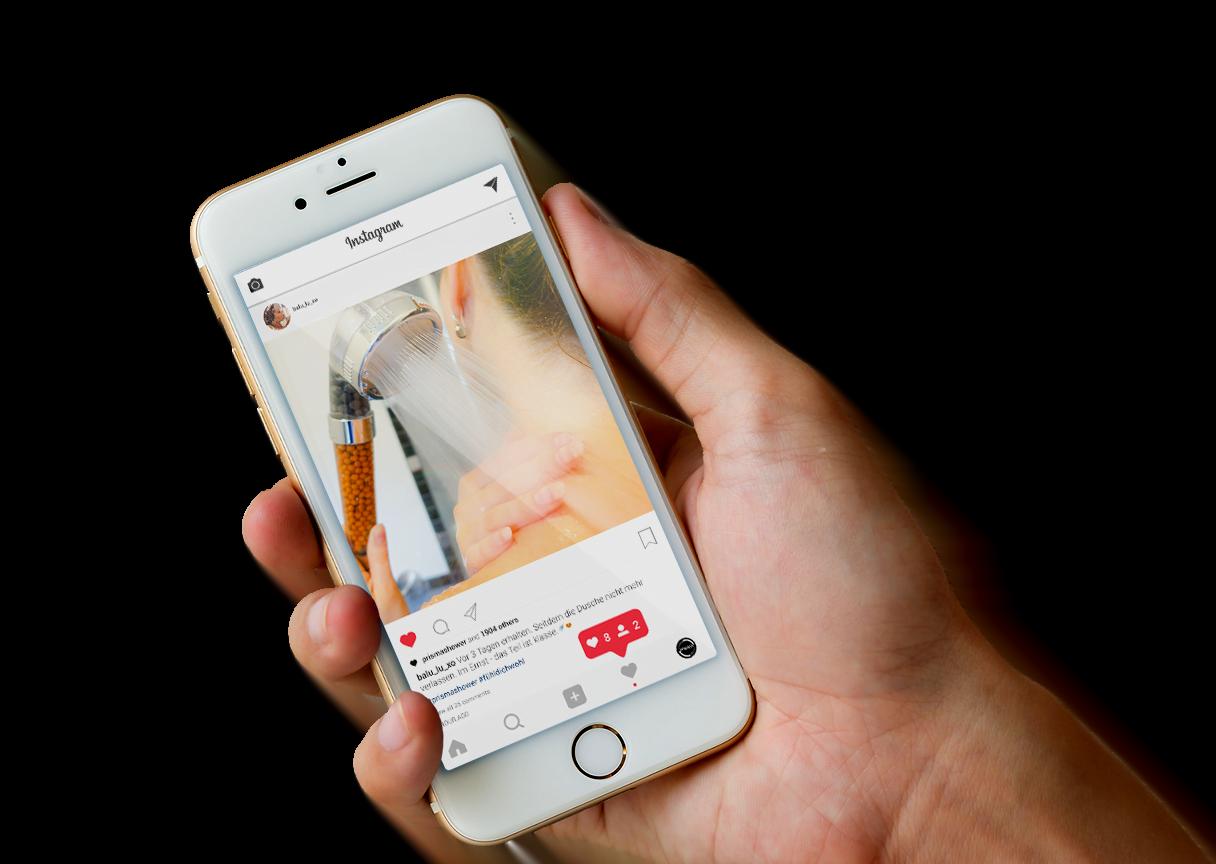 prisma iphone hand mockup - Blogger & Influencer