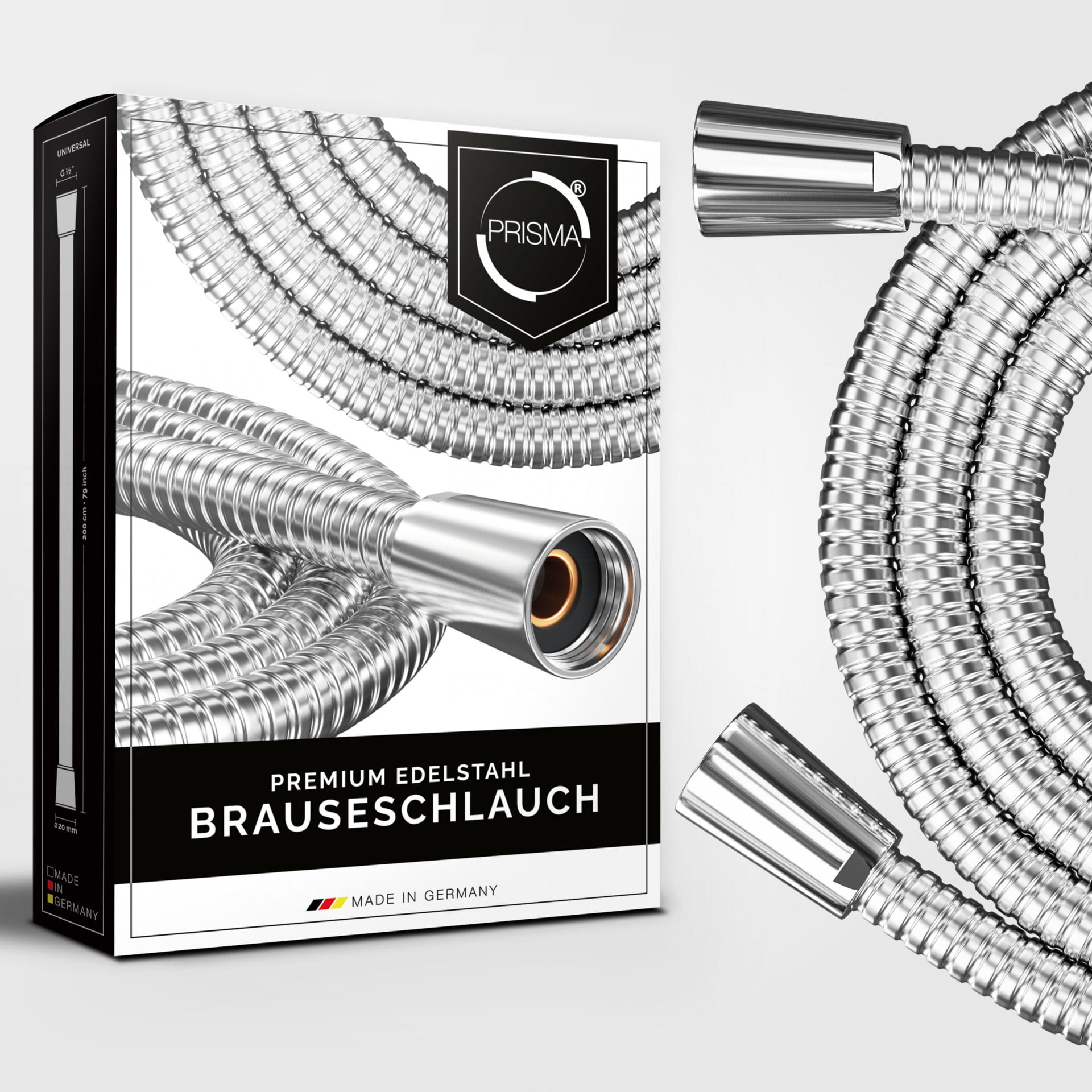 3977 Product - PRISMA Brauseschlauch aus Edelstahl • Made In Germany